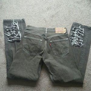 Men's levi's 501 rip jeans Sz 32 X34